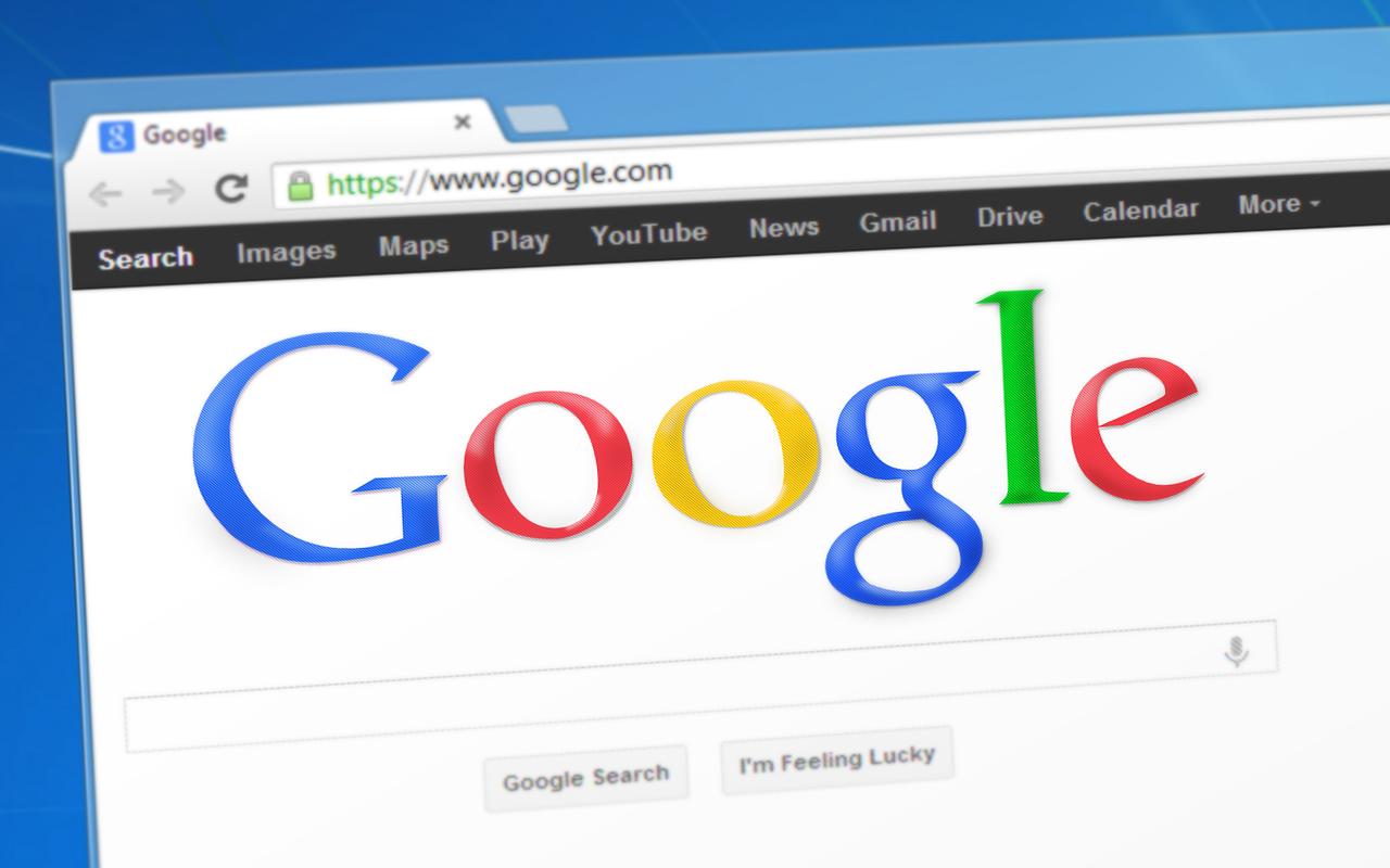 Une onglet dans le navigateur Google Chrome