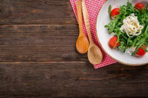 Présentation d'une salade