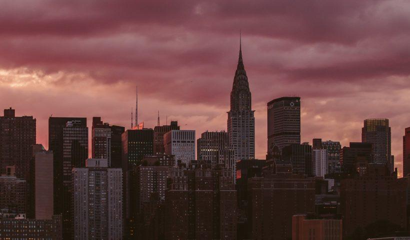 le ciel avec une vue de New York